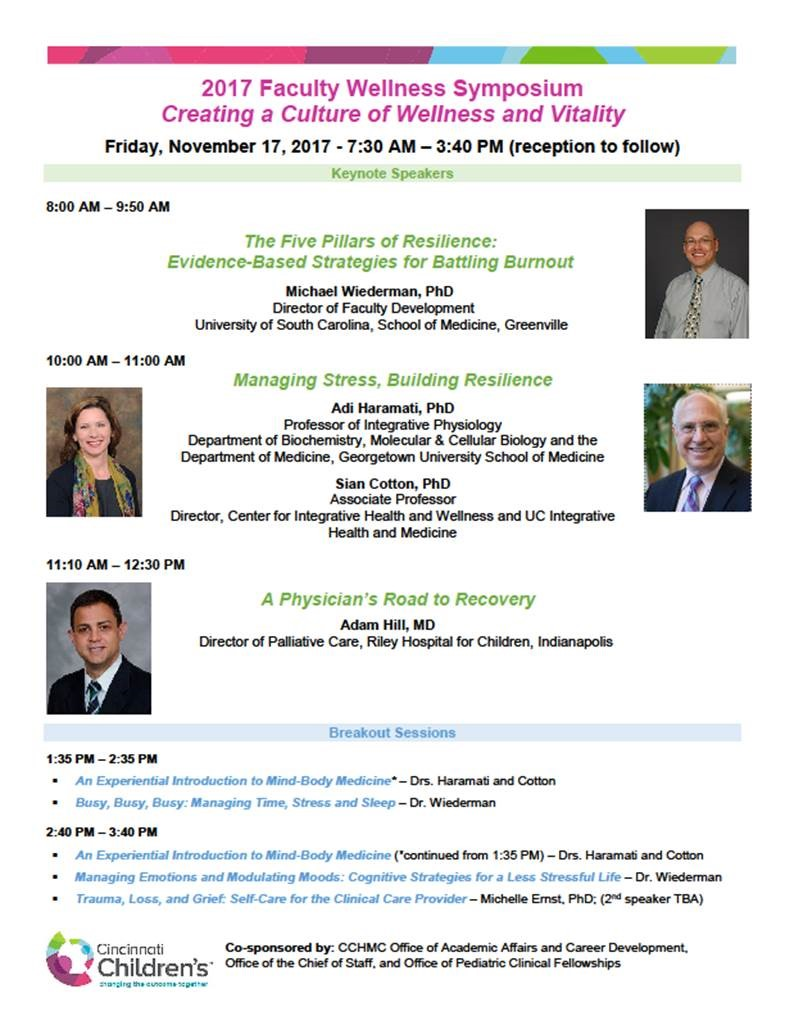 Faculty Health and Wellness Symposium | CCTST