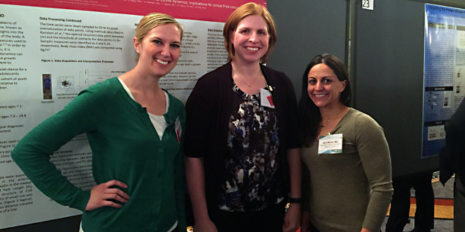 UC assistant professor of human services Brittany Rosen (left) with CCTST KL2 scholars Katie Quatman-Yates and Tara Rhine at Translational Science 2016
